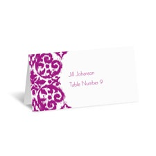 Ikat Damask Place Card