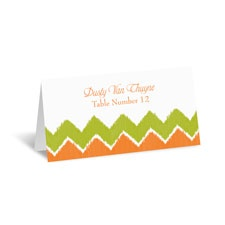 Fresh Chevron Place Card