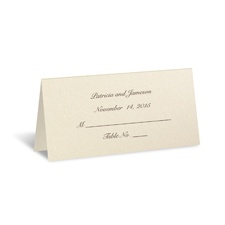 Ecru Shimmer Place Card - Personalized