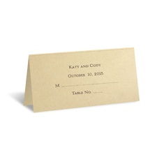 Champagne Shimmer Place Card - Personalized