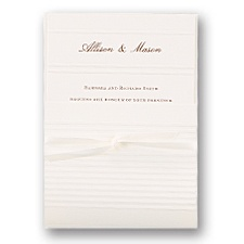 Pinstripe Wedding Invitation with Pocket
