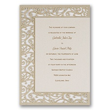 Luxurious Lace Wedding Invitation