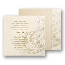Golden Renaissance Wedding Invitation