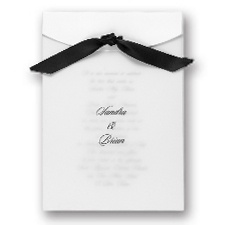 Elegant Veil Wedding Invitation
