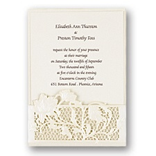 Rose Lattice Wedding Invitation