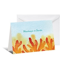 Coral Reef Note Card and Envelope