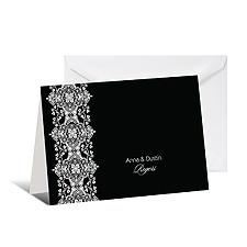 Sophisticated Lace Note Card and Envelope