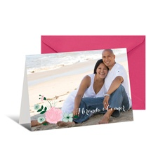All Rosy Photo Note Card and Envelope