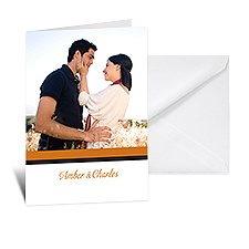 Bold Double Border Photo Note Card and Envelope