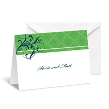 Fine Flourishes Note Card and Envelope - Grass