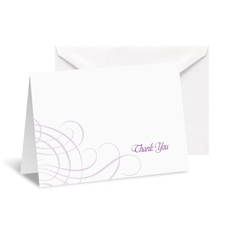 Swirling Filigree Note Card and Envelope - Grapevine