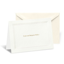Ecru Triple Frame Note Card and Envelope