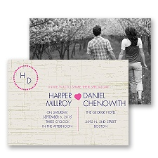 Modern Rustic Photo Wedding Invitation