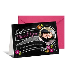 Chalkboard Banner Photo Thank You Card