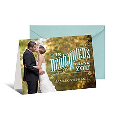 Newlyweds Photo Thank You Card - Horizontal