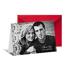 Lacy Edge Photo Thank You Card