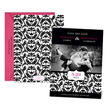 Chic Damask Photo Save the Date