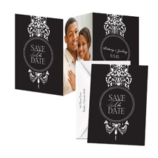 Dangling Damask Photo Save the Date