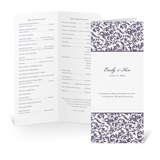 Vintage Damask Wedding Program