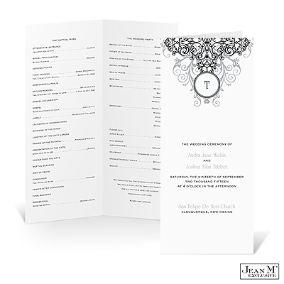 Flowing Filigree Wedding Program - Stainless