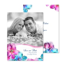 Watercolor Blossoms Photo Save the Date