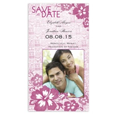 Polynesian Garden Photo Save the Date - Amethyst