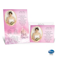 Princess Scroll Quinceanera Invitation