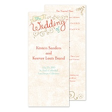 Vintage Promises Wedding Program