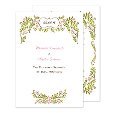 Floral Vine Wedding Program