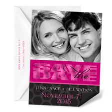 Bright Lights Save the Date Magnet