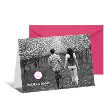Modern Rustic Photo Note Card and Envelope