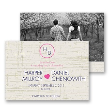 Modern Rustic Photo Save the Date