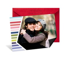 Pastel Rainbow Photo Save the Date Magnet