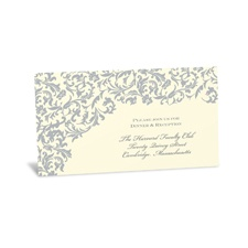 Vintage Damask Reception Card - Stainless