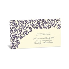 Vintage Damask Reception Card - Raisin