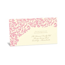 Vintage Damask Reception Card - Salmon
