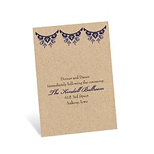 Paisley Star Reception Card - Eggplant