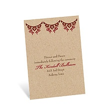 Paisley Star Reception Card - Merlot