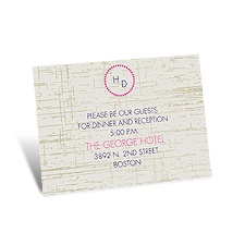 Modern Rustic Reception Card