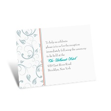 Delicate Vines Reception Card