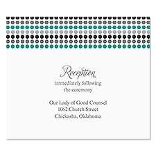 Dotted Stripes Reception Card - Stainless
