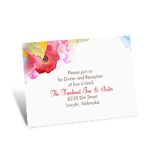 Bright Blossoms Reception Card