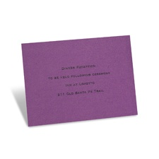 Purple Shimmer Reception Card