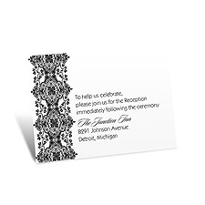 Sophisticated Lace Reception Card