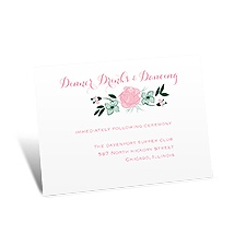 All Rosy Reception Card