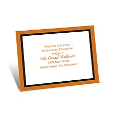 Bold Double Border Stacked Reception Card
