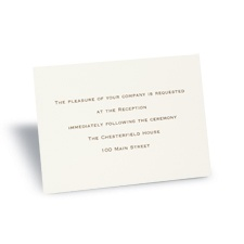 Ecru Reception Card