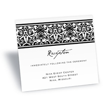 Band of Damask Reception Card