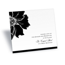 Floral Focus Reception Card