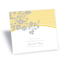 Garden Trellis Reception Card - Marigold